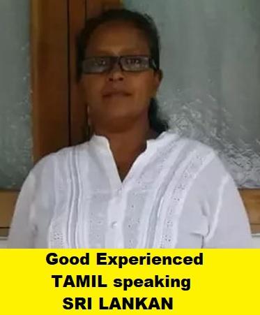 Sri Lankan Experienced Maid - VIGNESWARY